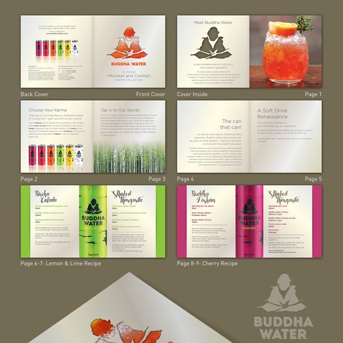 "Booklet Design for ""Buddha Water"""