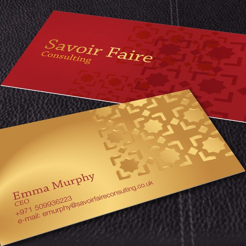 Business card for Management consultancy