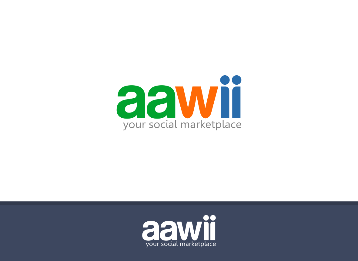 Create a Simple Strong Marketplace Font Style Logo For Aawii