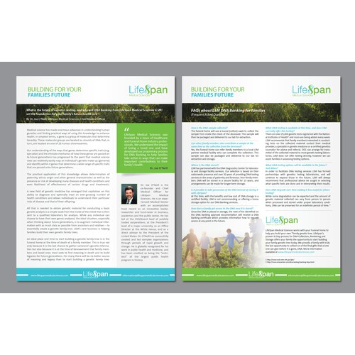 Creating a Visually Engaging White Paper Layout/Template for Lifespan Medical Sciences