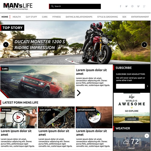 MansLife Web Design