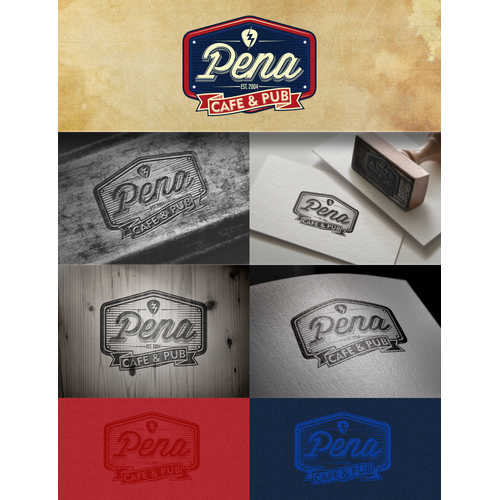 Pena Cafe & Pub logo competition