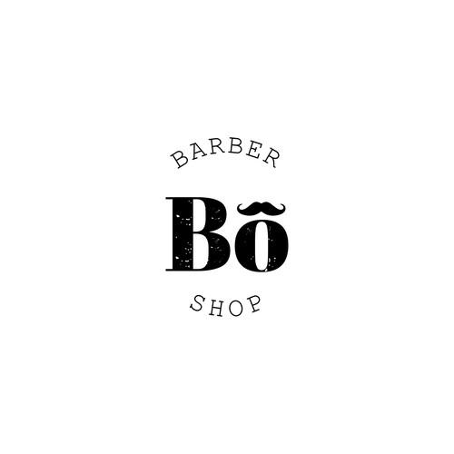 Logo concept for BO Barber Shop