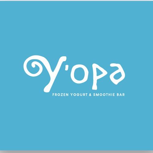 Playful logo for frozen yogurt