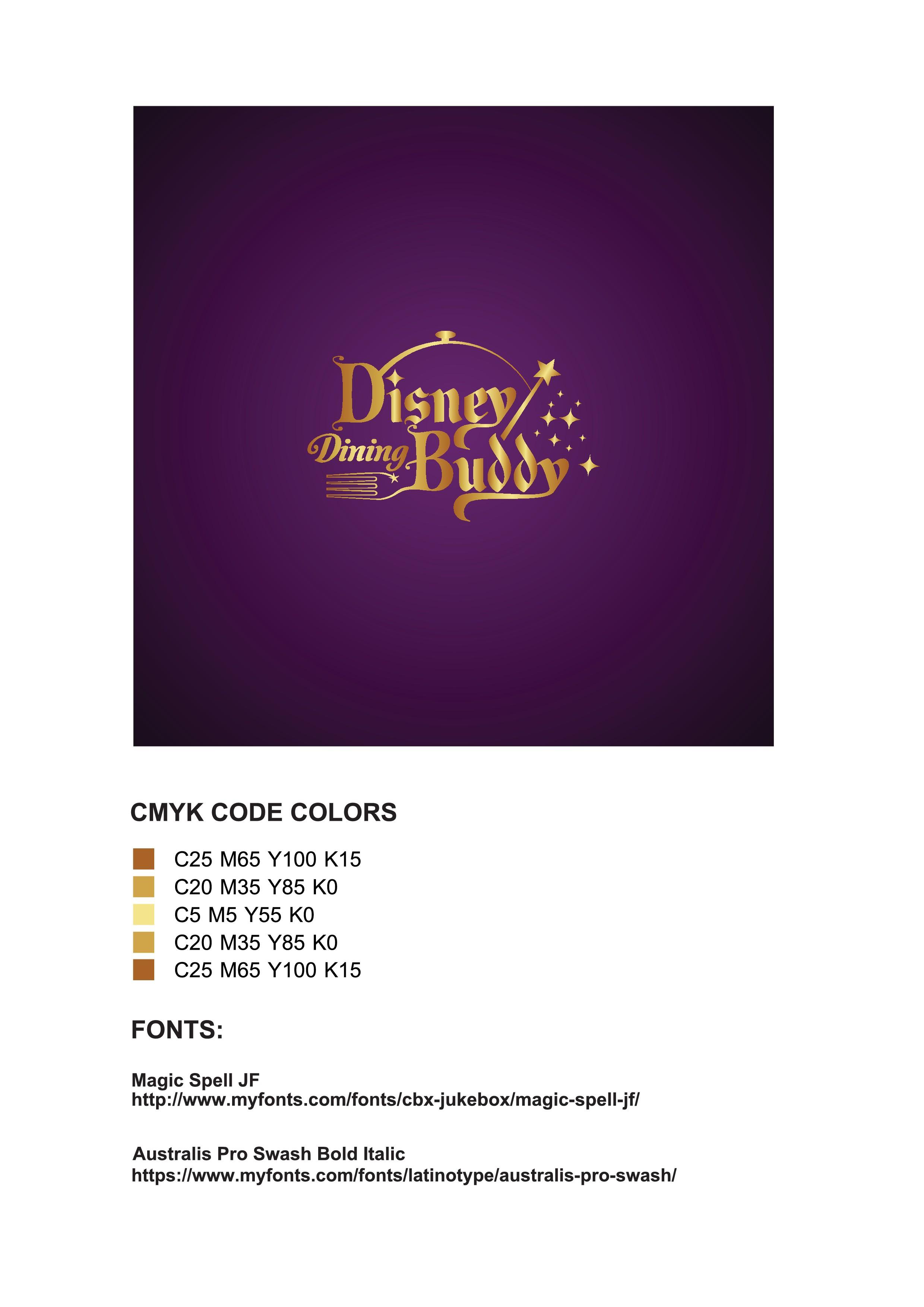 Create a fresh logo for Disney Dining Buddy