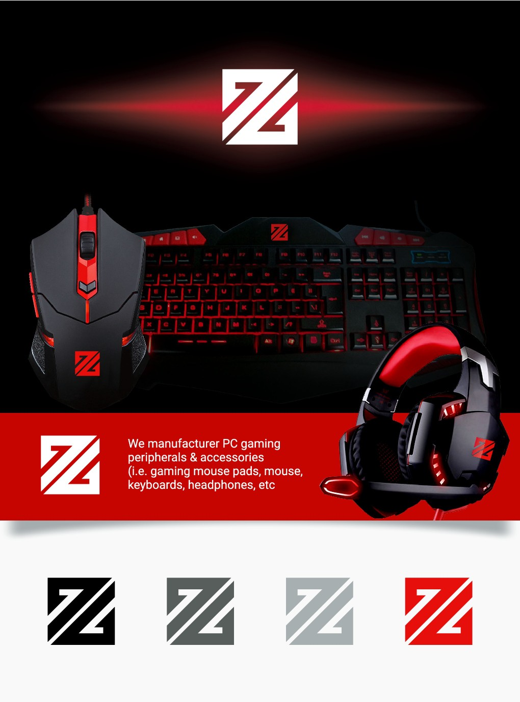 Design a simplified logo for Zeus Gear! PC gaming peripherals & accessories!