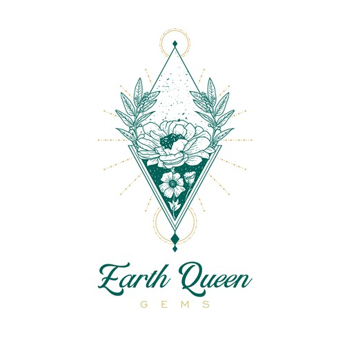 Logo for Earth Queen Gems