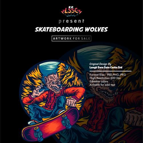 SKATEBOARDING WOLVES