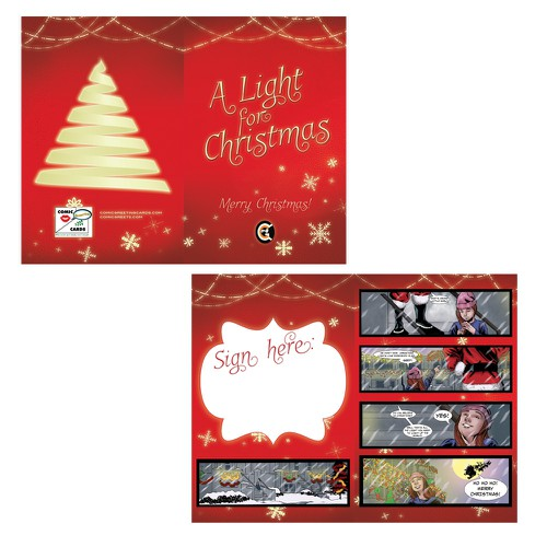 Create an Elegant looking Merry Christmas Comic Greeting Card