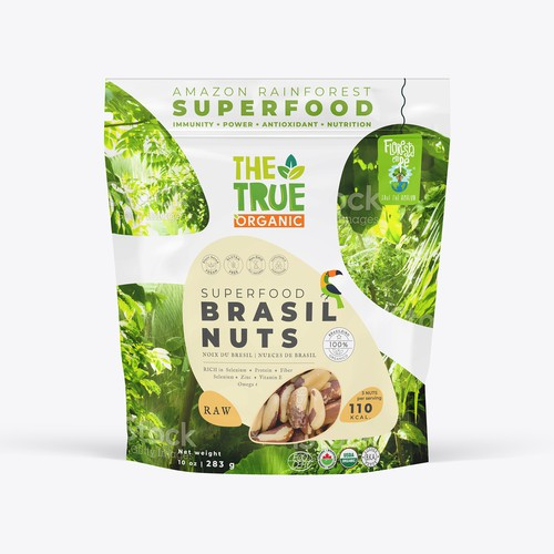 Packaging design for organic superfood