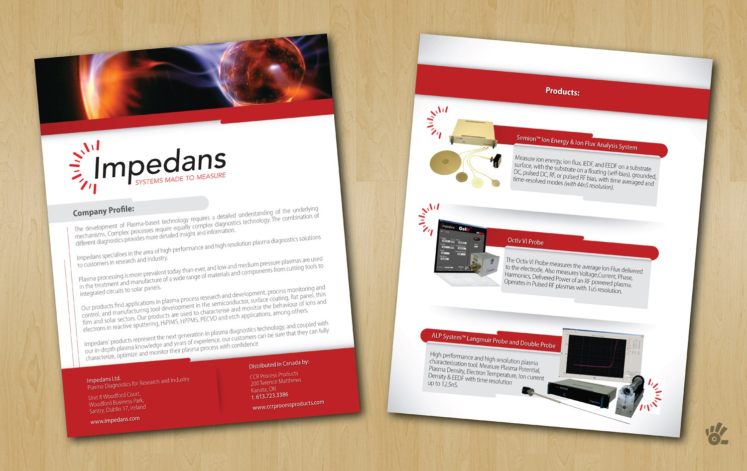 Impedans needs a new print or packaging design