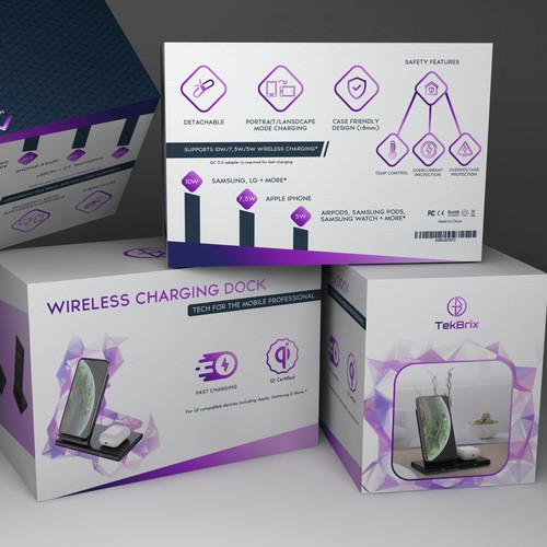Box design, wireless charging dock