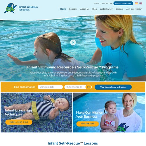 website design on Children Life Saving Aquatic Skills