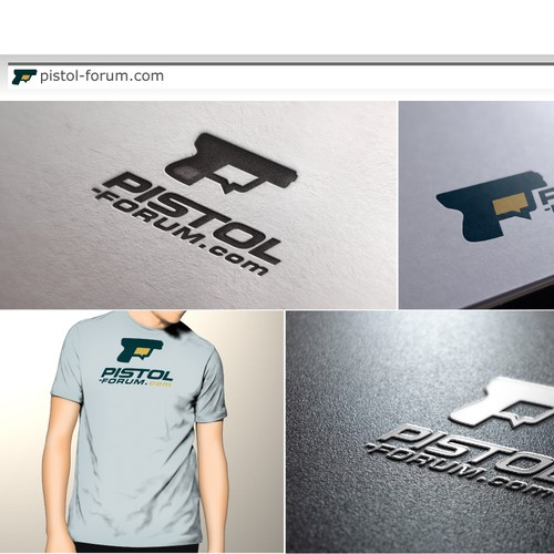 Create a cool new logo for pistol-forum.com