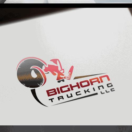 Create crisp, noticable logo design for Bighorn Trucking LLC