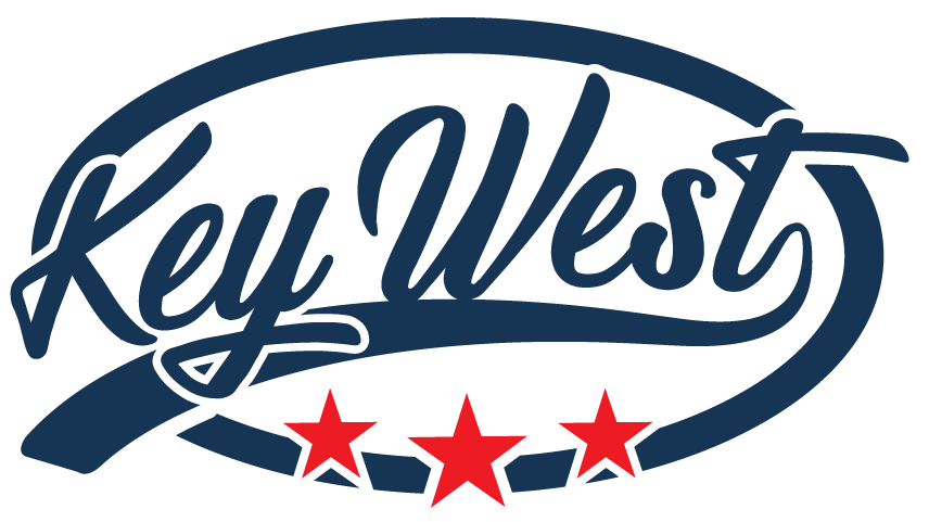 Create a vintage logo for Key West a brand of SUP and kayaks