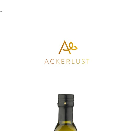 Ackerlust logo + product design sketches