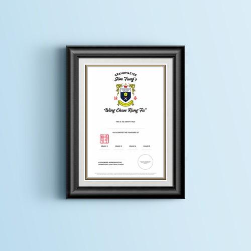 Kung Fu Certificate