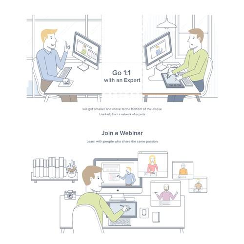 Illustration for Instawize Website