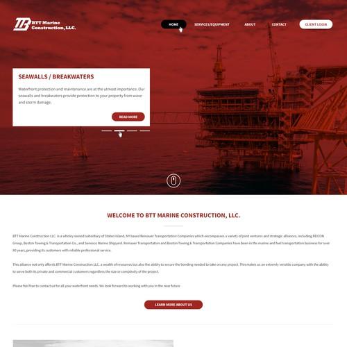 Homepage for BTT Marine Construction