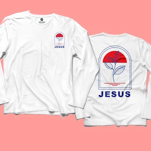 T-shirt design concept - Jesus
