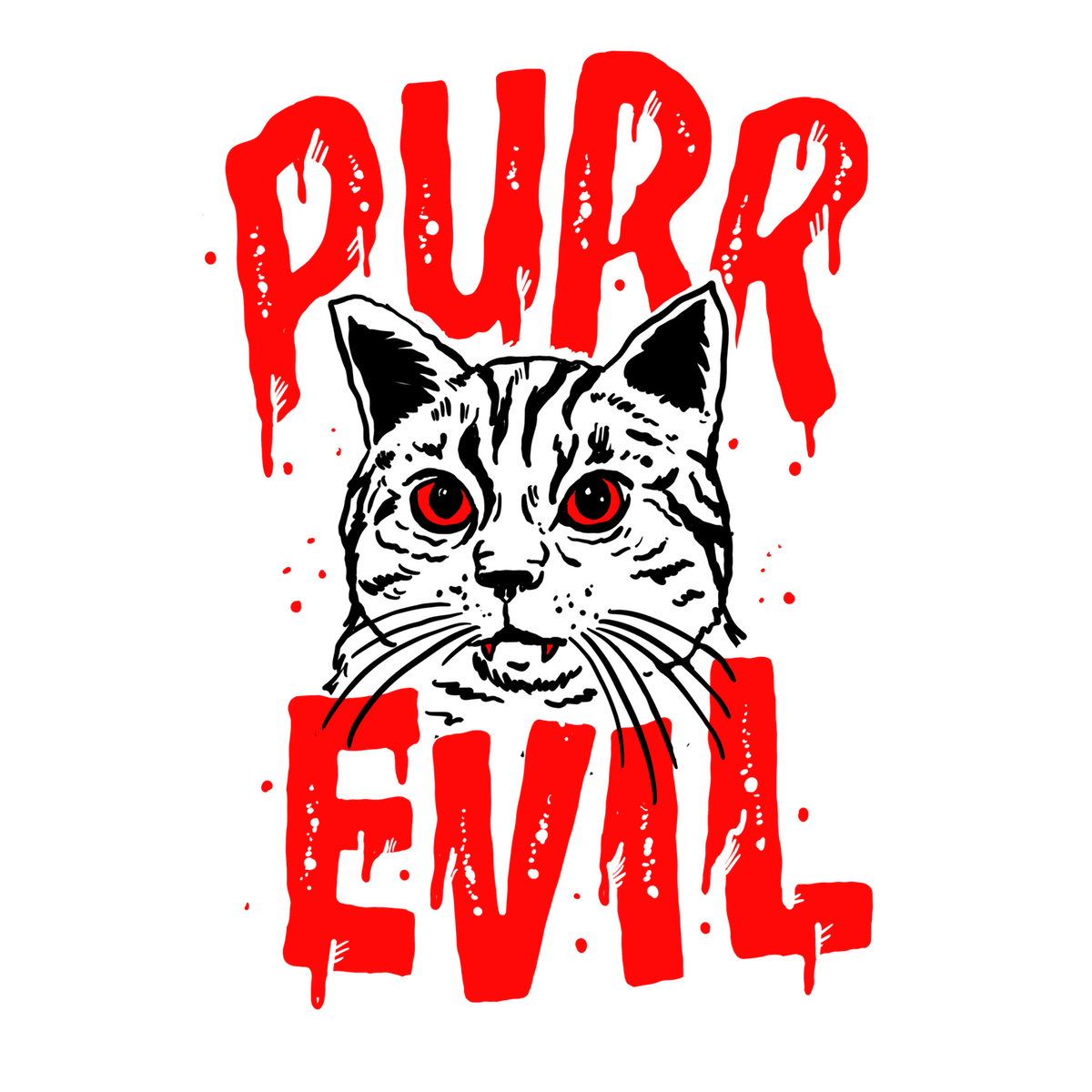 "Halloween Cat Design: ""PURE EVIL"""