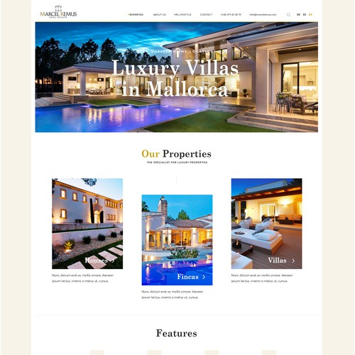 Web design for a Spanish Property reseller