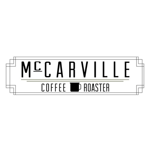 Craftsman-style logo for coffee company