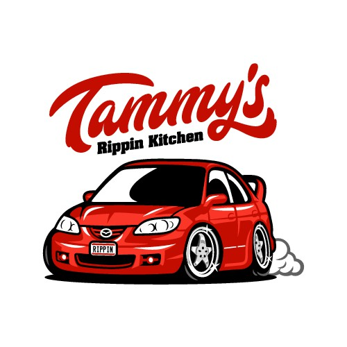 Rippin car design, this logo will be respresenting sauces, to start bbq and hot sauces, dressings!