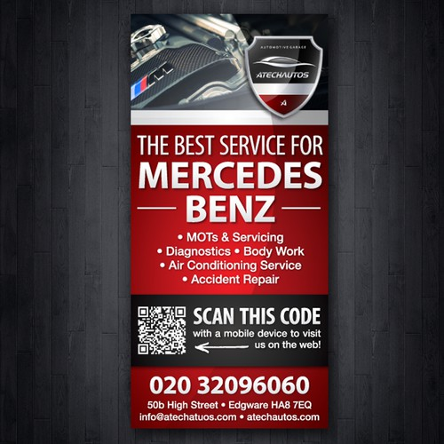 Leaflet for a garage repair business