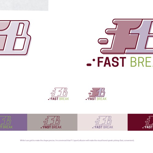 "Fast (petrol station fast) convenience store logo ""Fast Break"""