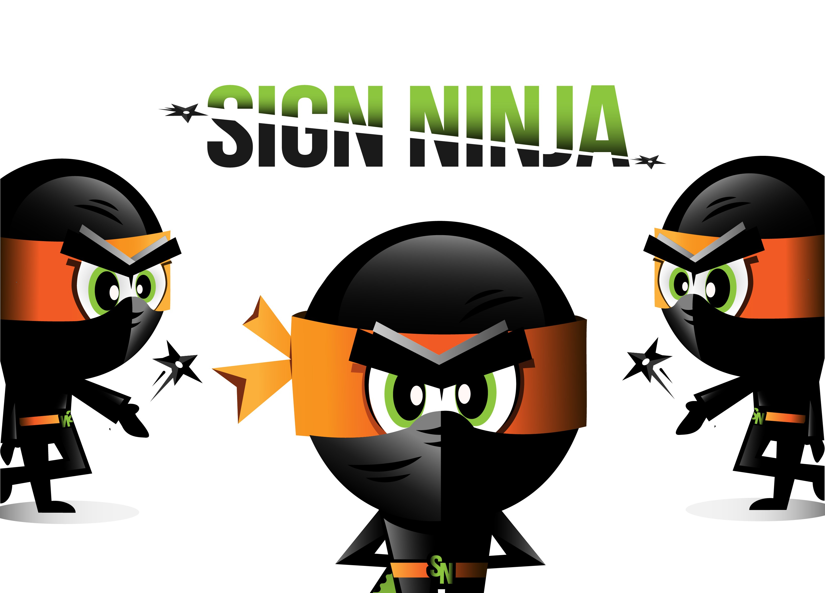 Sign Ninja - Character revisions.