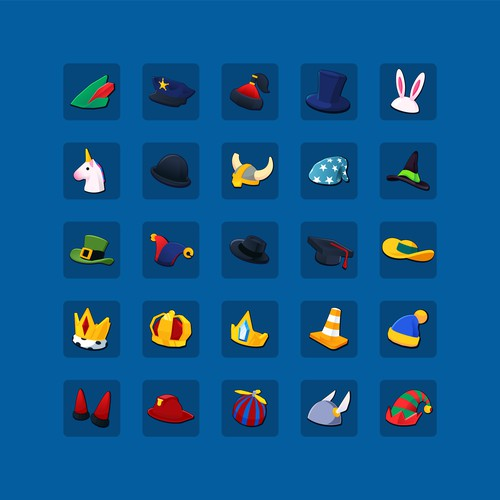 Game 2D icons - Hats