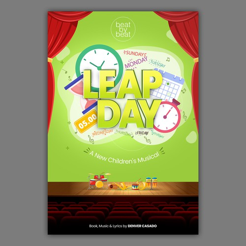 Musical school event poster