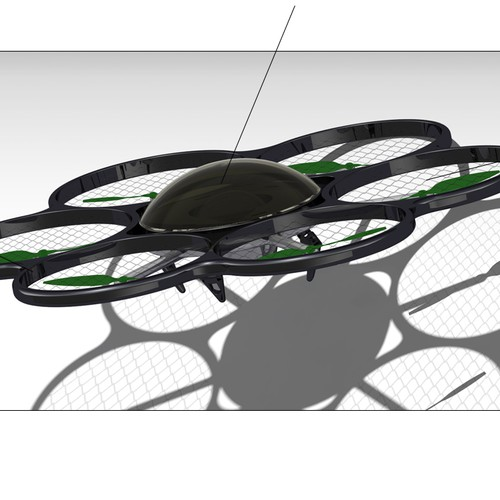 Create a concept design for an industrial drone / quadcopter