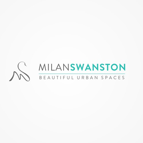 Create an urban swan signature logo for an Downtown Toronto Realtor