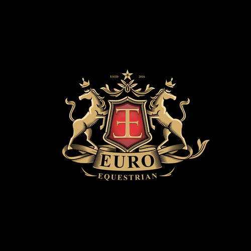 luxury high-end equestrian wear retailer logo design