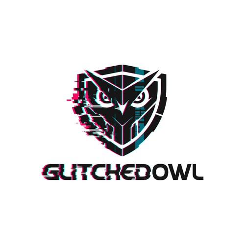 Logo design for GlitchedOwl