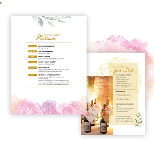 Feminine Elegant Price Catalogue Layout Design
