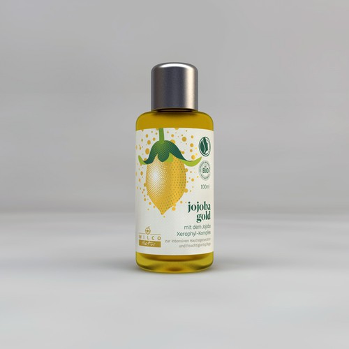 Jojoba Cosmetic Oil concept