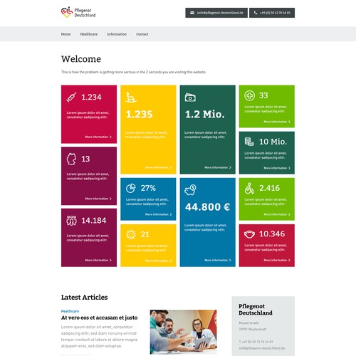 Website Layout for Healthcare Client