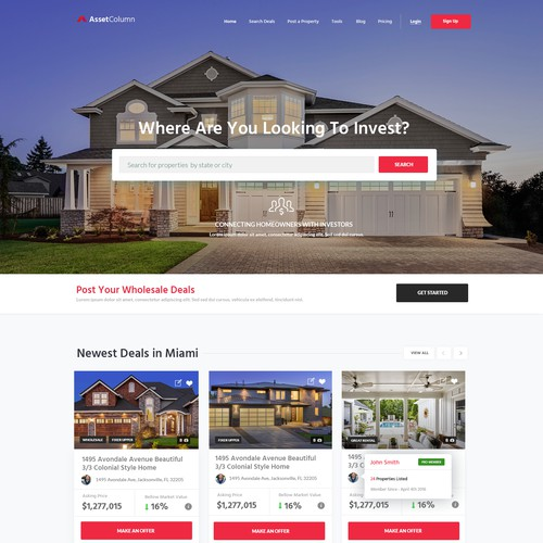 Web design for Real Estate Company