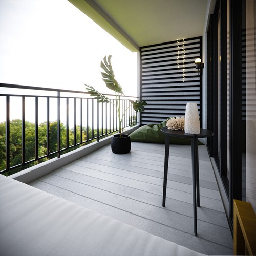 Balcony decking 3d visualisation