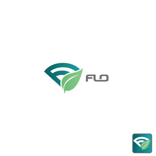 A logo for the Flo app.