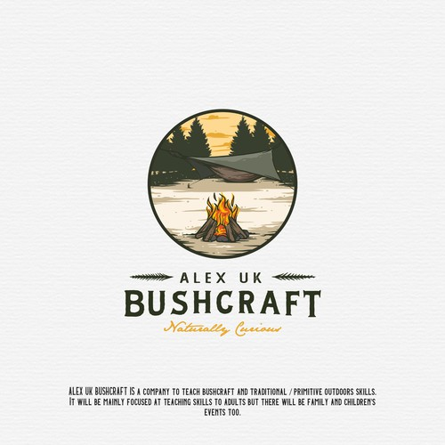 Logo Design for Alex UK Bushcraft