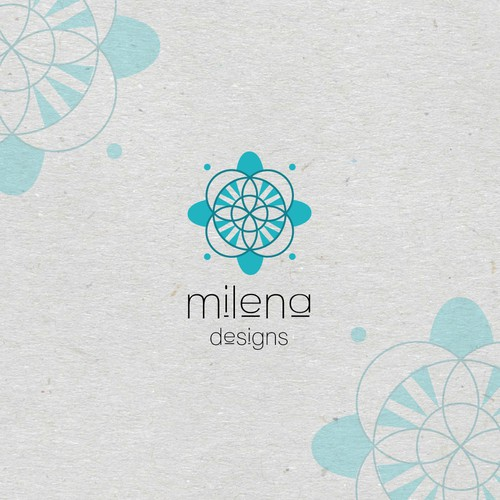 Logo for Milena Designs clothing line