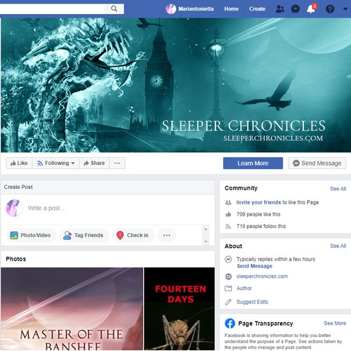 facebook cover for Sleeper chronicles