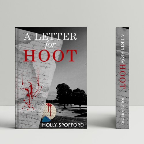 Design an interesting, intriguing book cover for a first-time murder mystery author
