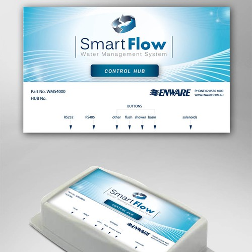 New label design for Smart Flow wanted by Enware Australia  Pty Ltd