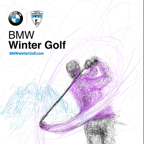 BMW winter golf posters